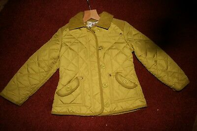Girl's Next Diamond Quilted Jacket Lime Green Aged 5-6