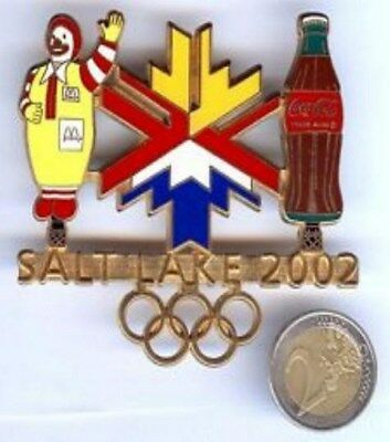 pin's GRAND PINS COCA COLA JO 2002 SALT LAKE