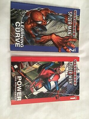 Marvel ULTIMATE SPIDER-MAN Vol.1 & 2 Learning Curve And Power And Responsibility