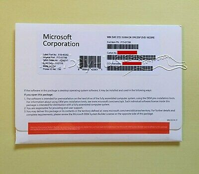 Microsoft Windows Server 2019 Standard 64bit OEM  P73-07788 - BRAND NEW-
