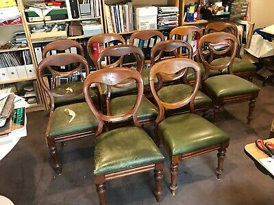 Vintage antique chairs. Dutch cabriole style . 11 chairs