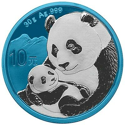 2019 30g Silver ¥10 Cninese SPACE BLUE PANDA Coin.