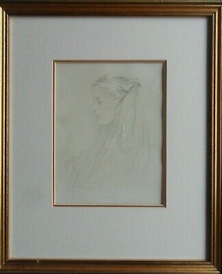 George Henry Boughton Ra 1833-1905 Fine Original Signed Portrait Of A Woman 1897