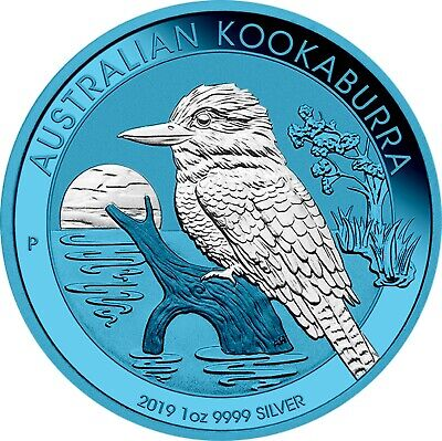 2019 1 Oz Silver $1 Australia SPACE BLUE KOAKABURRA Coin.