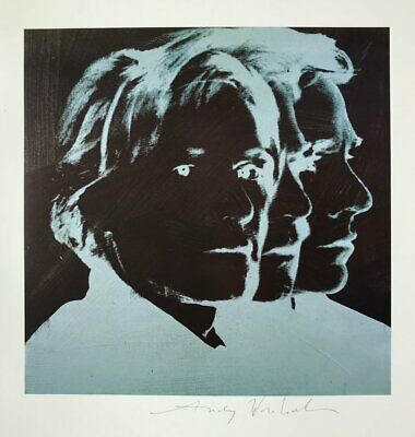 """Andy Warhol, """"Self-Portrait"""" Hand signed Print, 1986 with COA"""