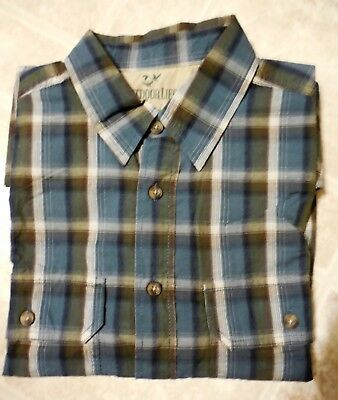 Perry Ellis Mens Blue Plaid Casual Shirt Orion Blue Size L NWT n0815 MSRP $79