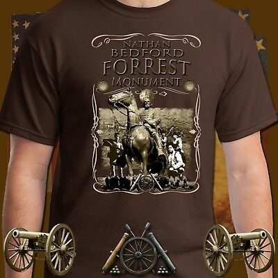 Southern General Nathan Bedford Forrest Monument, Whiskey Label Series t-shirt