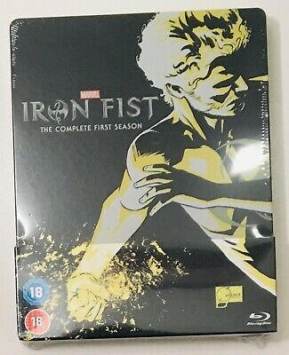 Iron Fist (Marvel) The Complete First Season Uk Exclusive Bluray Steelbook *new*