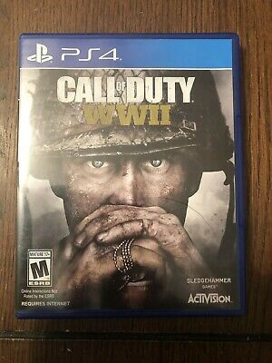 Call of Duty WWII WW2 World War 2 for PS4 Sony PlayStation 4 Box Only No Disc