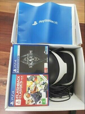PSVR Bundle | Includes Vr, Games (Skyrim Vr) and all Parts| Used 3 Times |