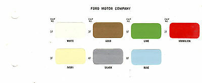 1973 FORD MUSTANG MERCURY MONTEREY LINCOLN TRUCKS 73 INTERIOR 73 PAINT CHIPS MS5