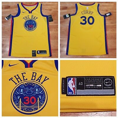 af4da2a0f15a Authentic Nike Stephen Curry Golden State Warriors The Bay Swingman Jersey  Sz S