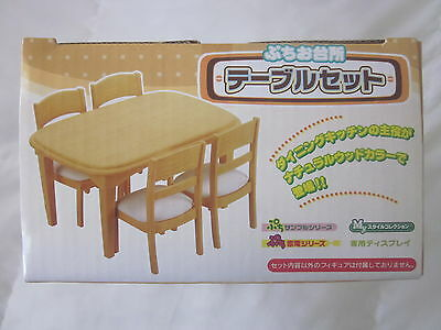 Re-Ment Kitchen Dining Table & Chairs,  for 1:6 scale dollhouse miniature
