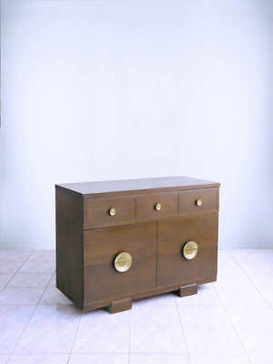 RAYMOND LOEWY for MENGEL cerused oak ART DECO bachelor's chest console dresser