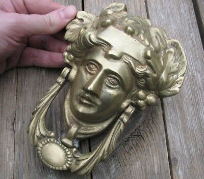 Reclaimed Solid Brass Goddess Door Knocker