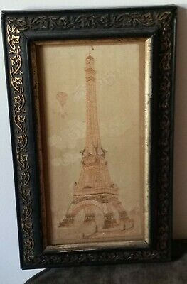 Embroidered 1889 World Fair Paris Eiffel Tower Excellent Amazing Detail