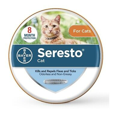 Seresto 8 Month Protective Flea and Tick Collar for Cats (15.5 inch) Exp. 3/2023