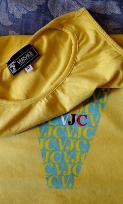 T-SHIRT woman  vintage 90's VERSACE JEANS COUTURE TG..M  made Italy Rare