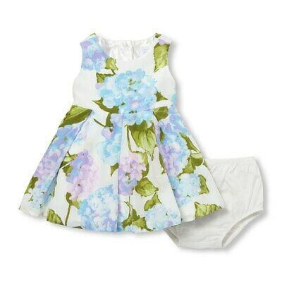 NWT The Childrens Place Baby Girls Sleeveless Floral Woven Dress Bloomers Set