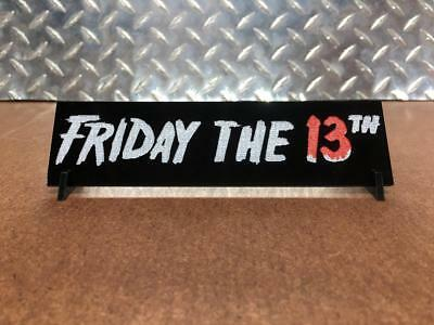 Friday The 13th poster style Jason Vorhees Prop Display plate plaque for mask