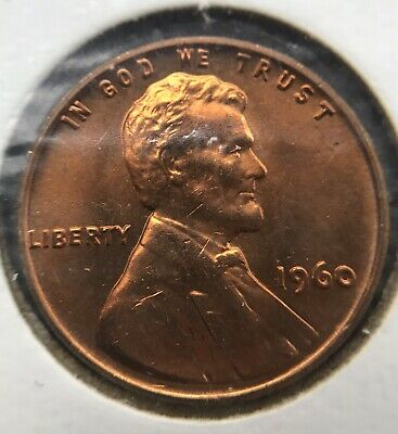 1960- P Small Date Lincoln Memorial Cent Penny MS GEM CHOICE BU UNC RD COPPER