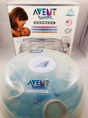 Philips Avent Microwave Steam Sterilizer With 4 Bottles
