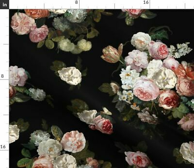 Dutch Floral Floral Flowers Botanical Girly Fabric Printed by Spoonflower BTY