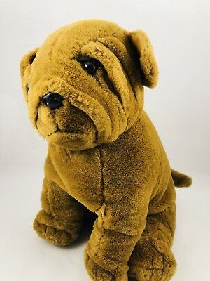 Shar Pei Plush Sitting Puppy Dog by Mighty International Dog Plush