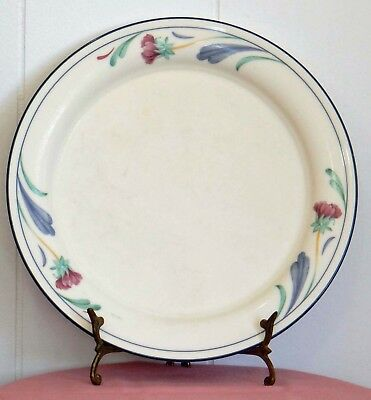 "Lenox Chinastone Poppies On Blue Pattern 10 3/4"" Made in USA Large Dinner Plate"