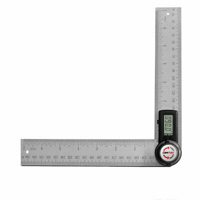 GemRed 82305 Digital Angle Finder 7-Inch Protractor 200mm Stainless Steel Angle