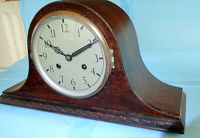 """BADUF"" GERMAN CHIMING  ROSEWOOD MANTEL CLOCK.  Napolean Style, for Restoration"