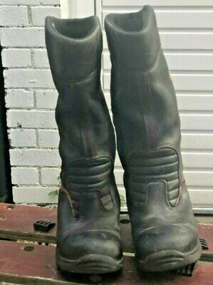 USED LEATHER JOLLY BIKERS CROSSTECH RIGGER BOOTS STEEL TOE