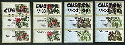 2018:Winter Greenery 1St (R18Yal) + 2Nd Class (Cl18S) -4 Custom Different Strips