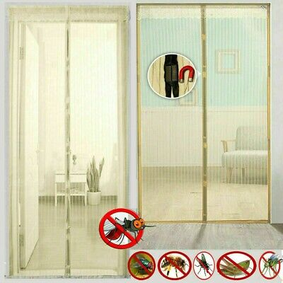 Magic Curtain Door Mesh - Magnetic Hands Free Fly Mosquito Bug  Insect Mosquito