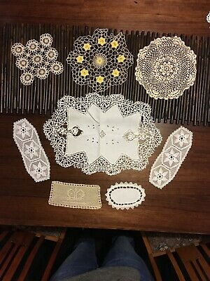 Beautiful Lace And Linen Doilies.