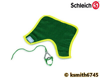 Schleich GREEN HORSE BLANKET & HEADSTALL SET fabric toy animal accessory NEW 💥