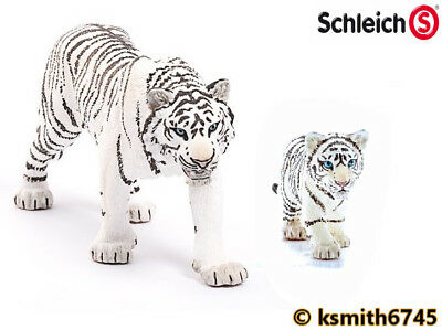 Schleich WHITE TIGER & CUB solid plastic toy wild zoo animal cat * NEW *💥
