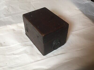 Small Vintage Wooden Box. Repairs - Oak.