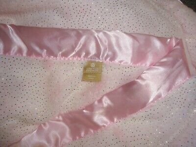 PERSONALIZED Sparkle of Gold Feathers MINKY BLANKET in Light Pink Shower Gift.