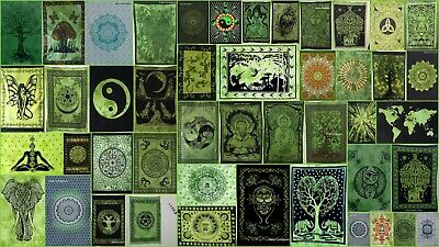 Green Color Wall Hanging Beautiful Design cotton Tapestry Poster Home Decor Art