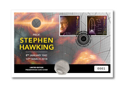 2019 Stephen Hawking 50p BUNC coin and stamp cover !! IN HAND !!  SOLD OUT...