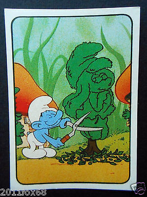 figurines cromos cards picture cards figurine i puffi 166 panini 1982 the smurfs