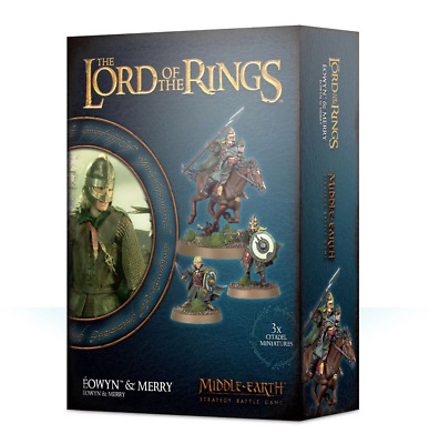 Warhammer Eowyn and Merry Lord of the Rings plastic Pre-Order new