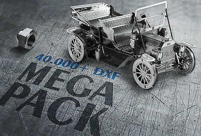 40.000+ MEGA Pack DXF files| CNC files 3D and 2D laser, plasma cutter, waterjet