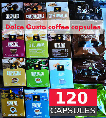 120 Pack Italian coffee Dolce Gusto Compatible Coffee Pods (Mixed Pack)