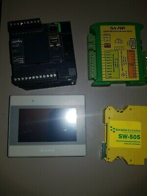 ModiconTM221 with Weintec MT8050iE HMI,brainboxes SW-505 switch and sfar 818RO