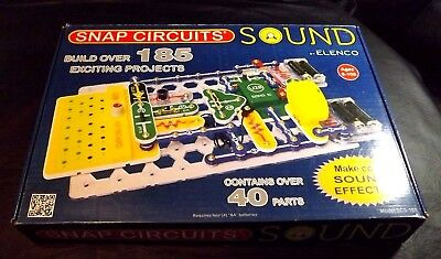 snap circuits sound $53 95 picclick2013 elenco electronic snap circuits sound model scs 185 makes over 185 project
