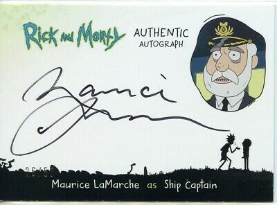 2018 Cryptozoic Rick and Morty Autograph Card MAURICE LAMARCHE as Ship Captain