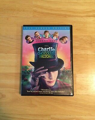 Charlie and the Chocolate Factory DVD, Johnny Depp, Full Screen Edition