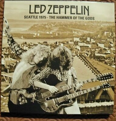 "Led Zeppelin ""Seattle 1975 The Hammer Of The Gods"" 4Cd Live Coliseum Digipack"